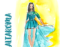 Illustration for fashion show invitation