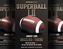 American Football Super Bowl Flyer Template