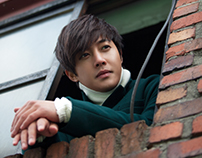 Kim Hyun-joong JPN single 'imademo' album cover.