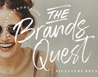 THE BRAND QUEST SIGNATURE BRUSH - FREE FONT