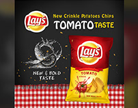 Lay`s Potatoes Chips Tomato Taste