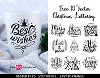 FREE 10 VECTOR CHRISTMAS LETTERING