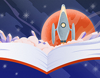 Sci-Fi Genre Art for Google Play Books