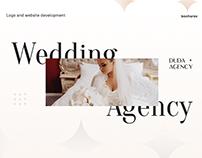 Website design for a wedding agency. Свадебное агенство