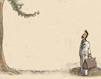 Children's book illustration: László Kolozsi: Apufa