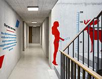 Фитнес - лестница для компании ЦДС