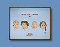 home sweet home | handgesticktes plakat