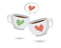 Coffee mugs vector clip art