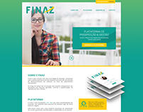 Finaz: UI Design - one page website.