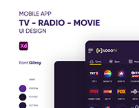 Mobile Tv App UI Design