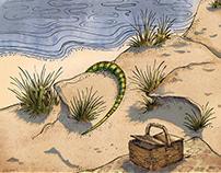 Poster design for Edward Albee's Seascape