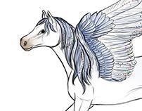 Concept Art - Schleich Pegasus
