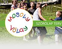 Tri-fold brochure and website design - Mosolyvölgy