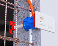 Electrical Installations in Concrete CGI
