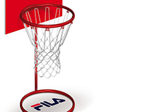 Fila product display ~ Latam Basket.