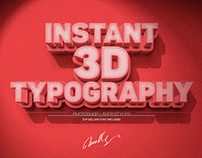 Instant 3D Type Effect - Photoshop Layer Style