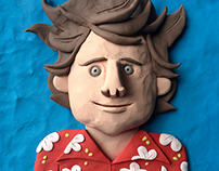 Plasticine comedians by Elliott Quince