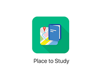 Place to Study App Icon Design