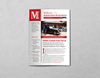 McPherson College Auto Restoration Newsletter Fall '16