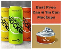 15+ Best Free Can & Tin Can Mockups