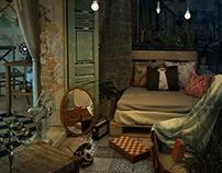 Shabby Balcony inspired by Balat Istanbul.