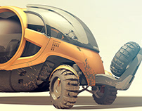 OEX-B Futuristic Overland Vehicle