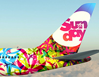 New livery for charter airline Sunday Airlines