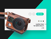 New Woodman / Leather cases for Go Pro