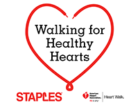 Staples Heart Walk T-Shirt Design