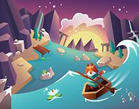 Magic river game