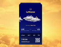 Lufthansa - Boarding Pass (Teaser Screen)