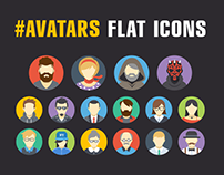 Free avatars flat icons
