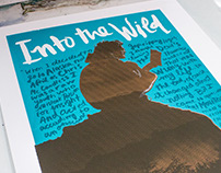 'Into The Wild' Movie Poster (Silkscreen)