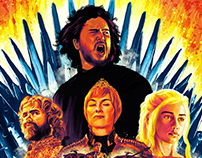 Game of Thrones - Alternate Illustrated Poster