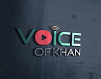 VOICE OF KHAN logo design