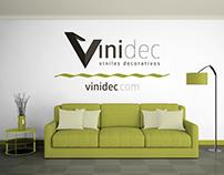 Diseño de logotipo de la empresa VINIDEC