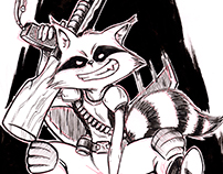 Ink Rocket Raccoon