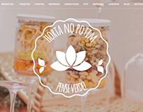 Horta no Potim - Responsive website with control panel
