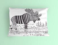 Swedish Moose Cushion