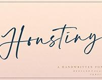 Houstiny - FREE Handwritten Font