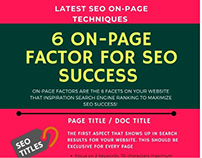 6 ON-PAGE FACTOR FOR SEO SUCCESS - INFOGRAPHICS