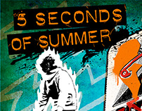 5 Seconds of Summer - 2016 Boston Tour Poster