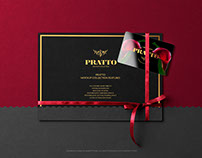 Gift Card on Black Invitation Card PSD Mockup
