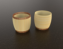 Wood & Bamboo cup