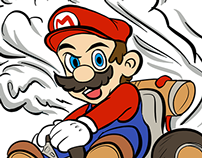 Mario Kart cartoon