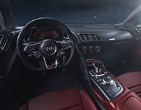 Audi R8 V10 plus interior shots | Full CGI