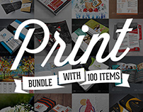 100 Print Templates Bundle with an Extended License