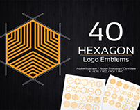 Hexagon Logo Emblems