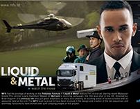 "Mercedes AMG Petronas F1""Liquid&Metal"" Lewis Hamilton"