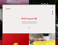 Free single page portfolio website